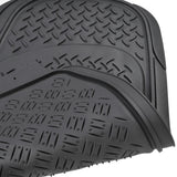 "Motor Trend ""Diamond Ridge"" Rubber Car Floor Mats & Liner Set 4 Piece- 100% Odorless, All Weather Protection (3 Color)"
