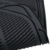 "Motor Trend ""Classic Style"" 100% Odorless Car Rubber Floor Mats 3 Piece - All Weather Protection (3 Color)"