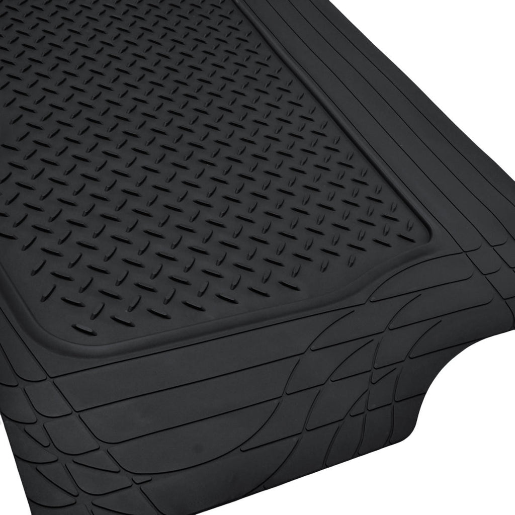 Black Trimmable Motor Trend Heavy Duty Rubber Trunk Mat
