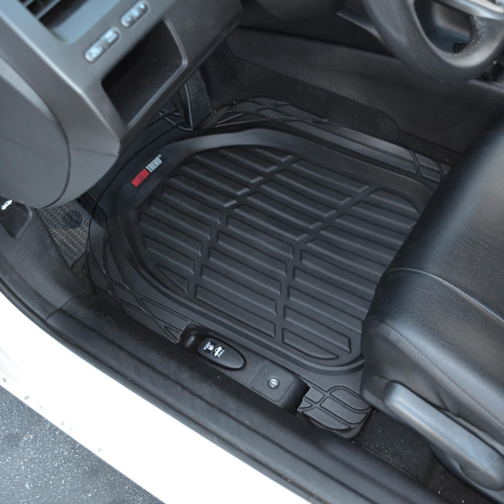 Black Motor Trend Flextough Deep Dish Rubber Floor Mats