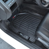 "Motor Trend ""Deep Dish"" Flex Tough Contour Liners Car Floor Mats 3 Piece - Heavy Duty 100% Odorless (3 Color)"