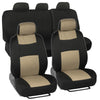 Full Set Seat Covers for Car Auto SUV Polyester Cloth - 60/40 Split Rear Bench (6 Color)