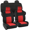 Full Set Seat Covers for Car Auto SUV Polyester Cloth - Integrated Headrests Rear Bench (6 Color)