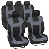 "BDK ""Monaco"" Seat Covers for Car SUV - Sporty Racing Style Stripes (5 Color)"