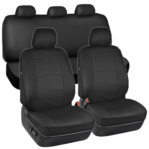 TwoTone Synthetic Leather Seat Covers For Car SUV Auto Two Tone
