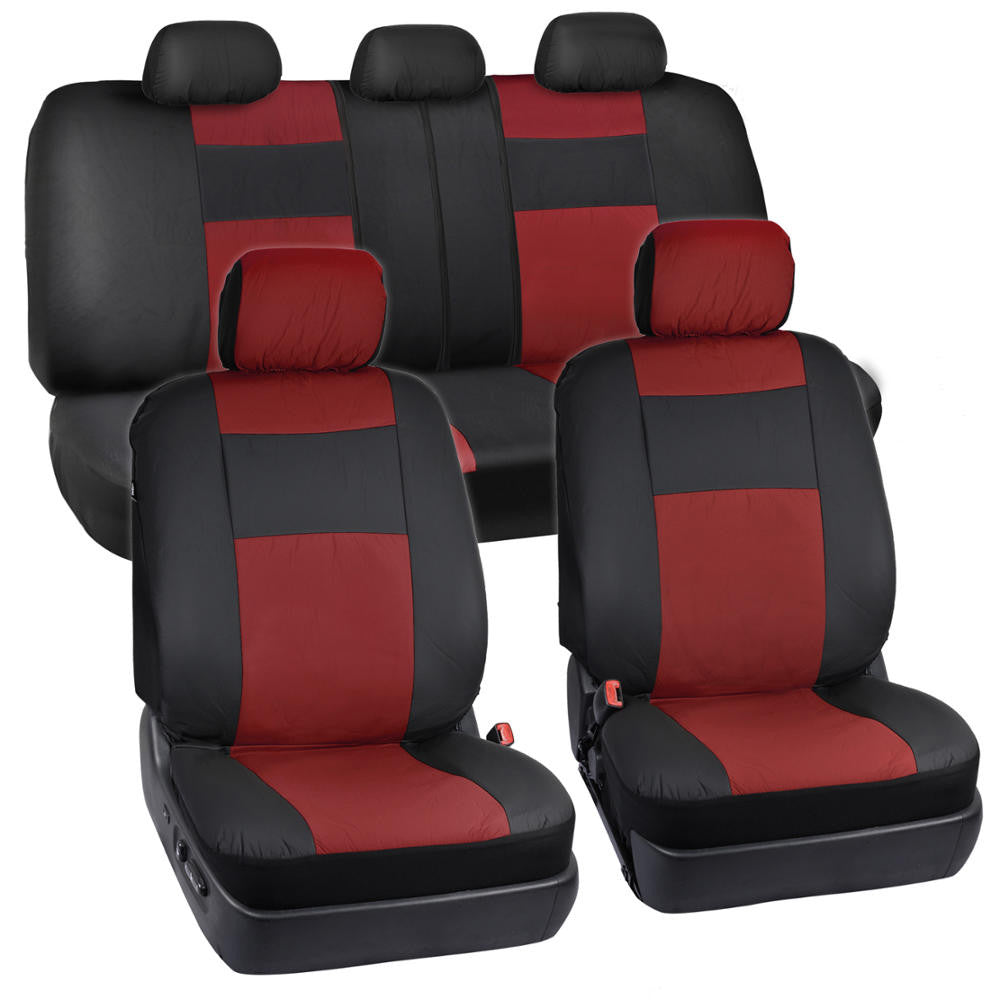 Twotone Synthetic Leather Seat Covers For Car Suv Auto Two