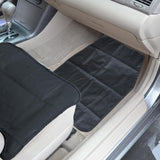 TravelDog Ride-Along Pal Waterproof Car Seat Cover Protector for Pets - Black Oxford Hammock