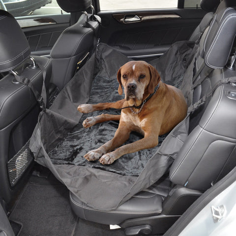 BDK Petal Travel Hammock - Rear Seat Protector - Waterproof w/ Comfort Fleece Lining for Dogs
