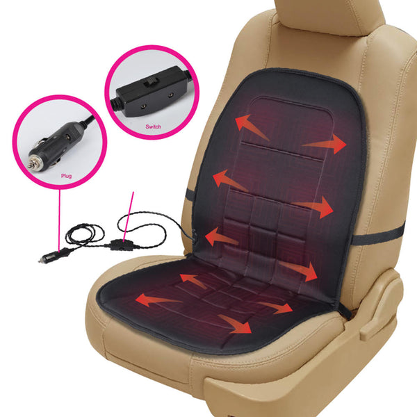 Heated Car Seat Cushion 12v Travel Warmer With Thermal