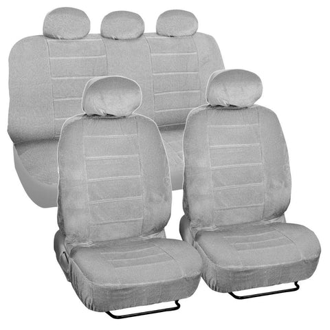 BDK Dotted Cloth Low Back Regal Style 9 Piece Premium Car Seat Covers 4 Color