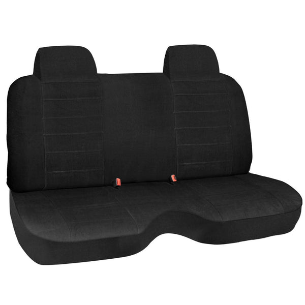 Black Velour Truck Bench Seat Cover