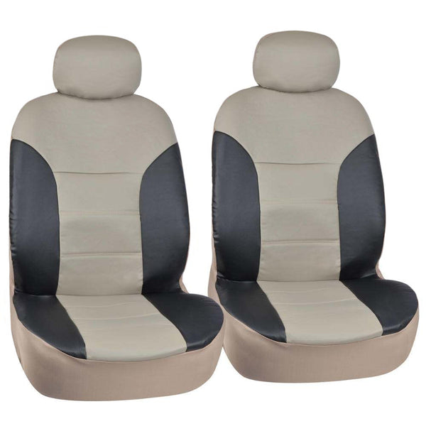 Gray Two Tone Leather Premium Leatherette Motor Trend Seat