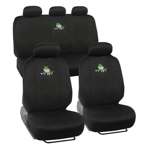 Green Frog Car Seat Covers - Universal Fit, 9 Piece