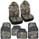 Hawg Camo Huntsman 4-Layer Seat Covers & Heavy Duty Rubber Floor Mats Camouflage for Truck SUV Auto (3 Color)