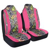 High Back Truck Seat Covers Integrated Seatbelt For Pickups SUVs (Pink/Camo)
