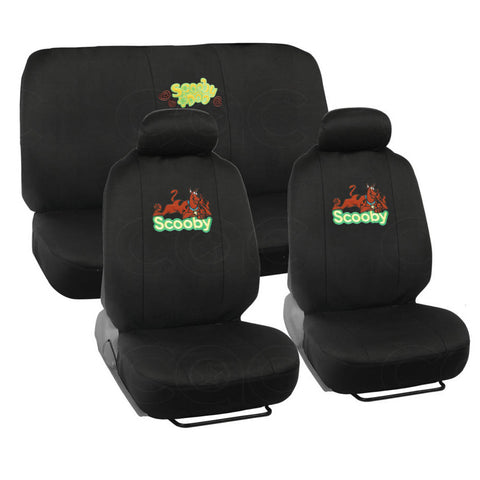 Looney Tunes Scooby Doo Seat Covers - 9 Piece Universal Fit