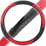 BDK Massage Grip Steering Wheel Cover (Red)
