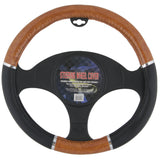 BDK Burlwood Steering Wheel Cover (Black)