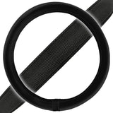 Black Deluxe Mesh Layout Pattern Steering Wheel Cover