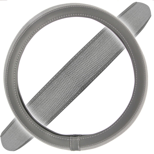 Gray Deluxe Mesh Layout Pattern Steering Wheel Cover