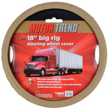 "Motor Trend Big Rig Steering Wheel Cover for Trucks XXL 18"" Beige Odorless Snyth Leather"
