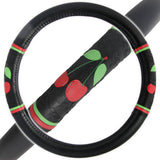 "Cherry Steering Wheel Cover PU Leather Grip 15"" Standard Size"