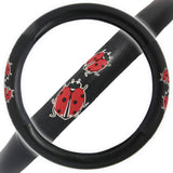 "Lady Bug Pattern Steering Wheel Cover 14.5"" to 15.5"""