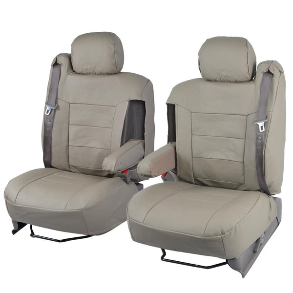 black custom leatherette fitted front seat covers w   armrest