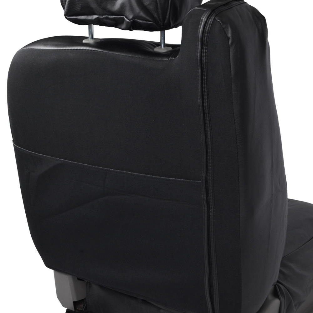 Black Fitted Leatherette Front Seat Covers