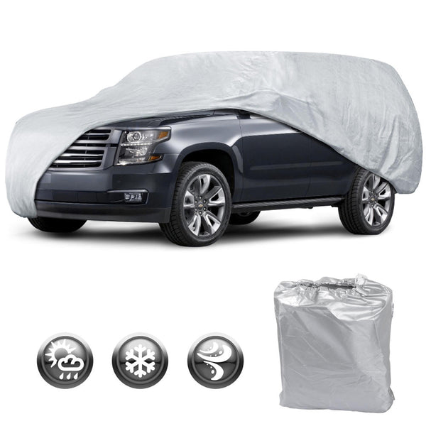 Motor Trend All Season WeatherWear 1-Poly Layer Snow proof, Water Resistant Car Cover Size XL1 - Fits up to 225