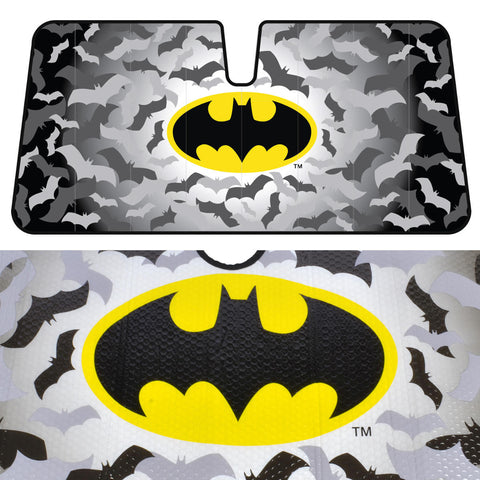 Batman Auto Sun Shade - Reflective Backing - Classic Black on Yellow Logo - 58