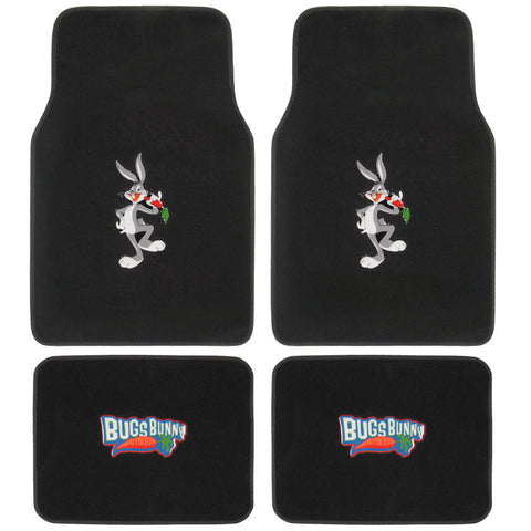 Warner Brothers Bugs Bunny Carpet Floor Mats - 4pc Universal Fit