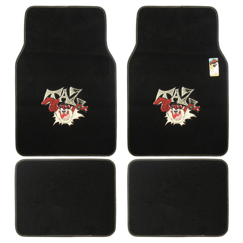 Looney Tunes Taz Carpet Floor Mats - 4 Piece Universal Fit