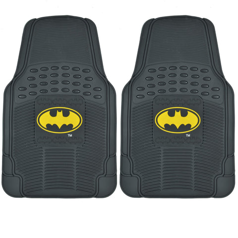Batman Rubber Floor Mats Car 2 PC Front Pair - Heavy Duty Gear
