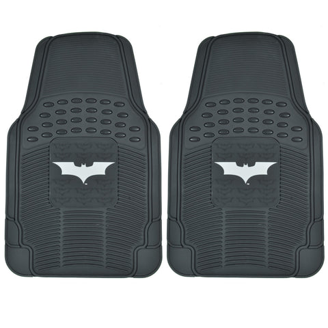 Batman Dark Knight Rubber Floor Mats for Car 2 PC Front Pair - Heavy Duty Gear