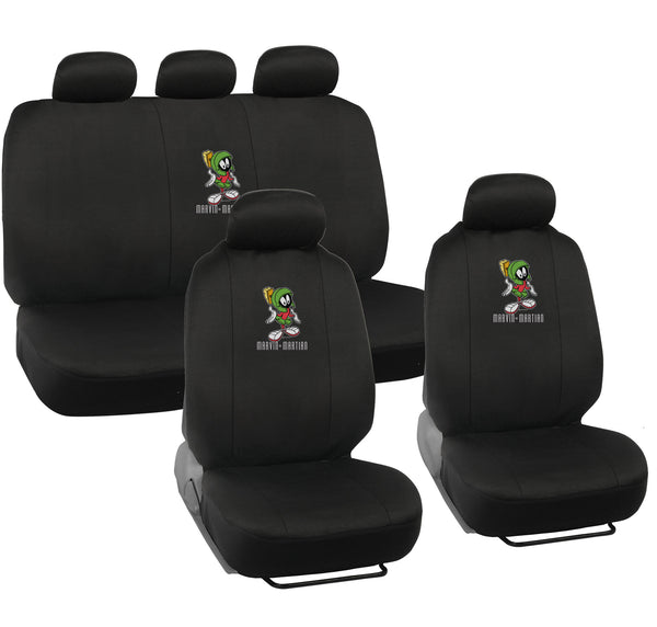 Looney Tunes Marvin Seat Covers - 9 Piece Universal Fit