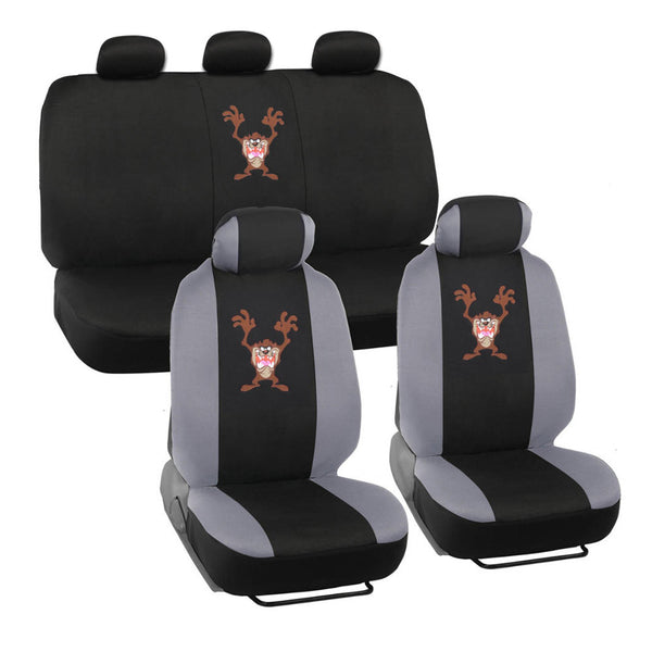 Looney Tunes Taz Seat Covers - 9 Piece Universal Fit