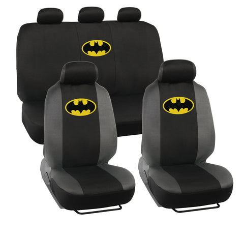Classic Batman Seat Covers - 9pc Universal Fit - Licensed Interior Accessories