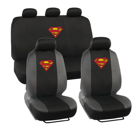 Superman Seat Covers - 9 Piece Universal Fit