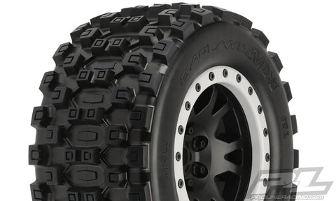PRO-LINE BADLANDS MX43 PRO-LOC ALL TERRAIN TIRES MOUNTED - X-MAXX 10131-13