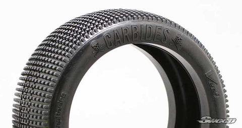 SWEEP RACING CARBIDES 1/8 BUGGY TIRES - RED DOT ON WHITE WHEELS , 1/8 Buggy Wheels & Tires Combo - Sweep Racing, Fastlaphobby.com LLC  - 1