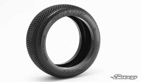 SWEEP RACING PIXEL 1/8 BUGGY TIRES - RED DOT ON WHITE WHEELS , 1/8 buggy wheels & Tires combo - Sweep Racing, Fastlaphobby.com LLC  - 1