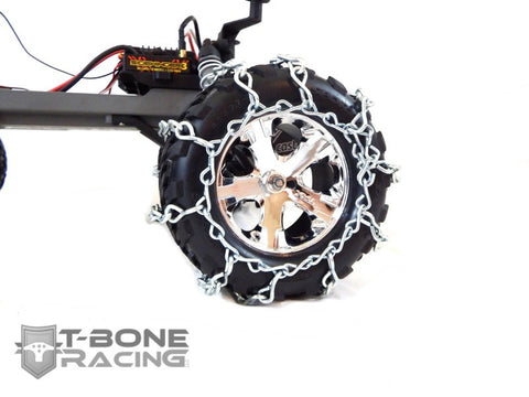 "T-BONE RACING SNOW CHAINS SET OF 2 - TRAXXAS STAMPEDE 2WD, 4WD VXL 4.5"" X 2.75"" , Tire Chains - T-Bone Racing, Fastlaphobby.com LLC  - 1"