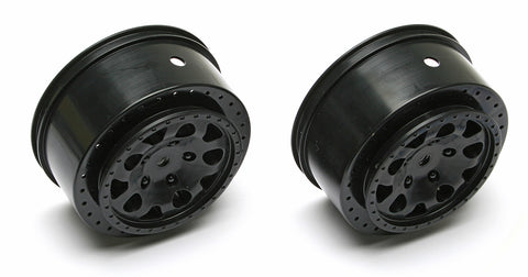Team Associated KMC Wheel w/12mm Hex (1 Pair - Black) , Short Course Wheels - Team Associated, Fastlaphobby.com LLC