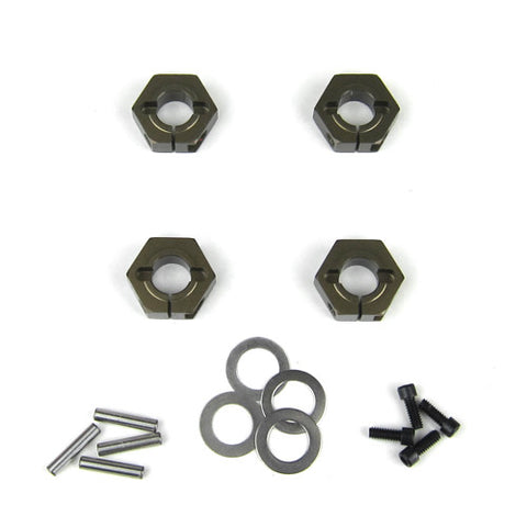 TEKNO RC WHEEL HEXES (SCT410, 12MM, ALUMINUM, 4PCS) , Wheels Hex - Tekno, Fastlaphobby.com LLC