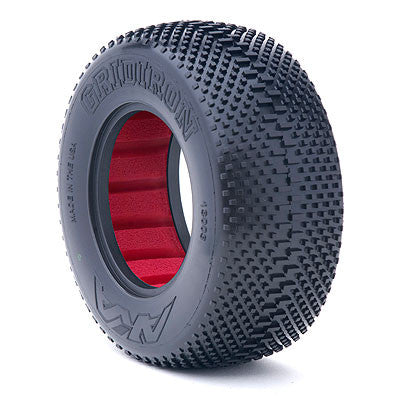 AKA 1:10 GRIDIRON SC SOFT WITH RED INSERTS (ONE PAIR) , Short Course Tires - AKA, Fastlaphobby.com LLC