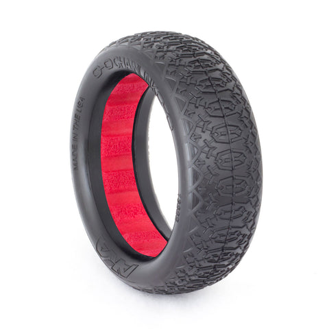 AKA 1:10 BUGGY TIRE EVO CHAIN LINK REAR (SOFT) W/ RED INSERT - Fast Lap Hobby