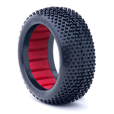 AKA 1:8 BUGGY I -BEAM SOFT TIRES WITH RED INSERT (1 PAIR) , 1/8 buggy tires - AKA, Fastlaphobby.com LLC