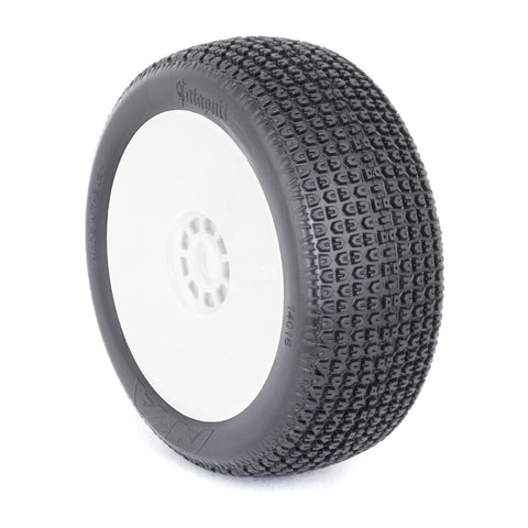 AKA 1:8 BUGGY CATAPULT (MEDIUM) EVO WHEEL PRE-MOUNTED WHITE , 1/8 buggy tires - AKA, Fastlaphobby.com LLC