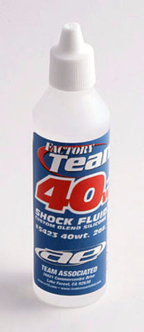 TEAM  ASSOCIATED 40WT SILICONE SHOCK OIL 2 OZ , Shock oil - Team Associated, Fastlaphobby.com LLC